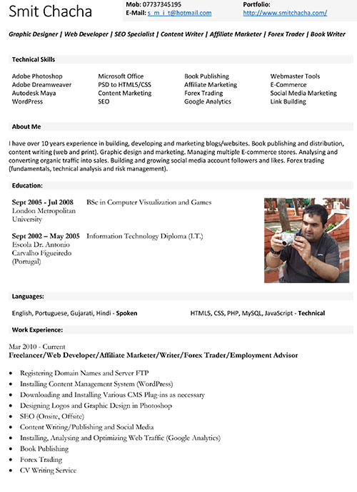 cv resume writing service